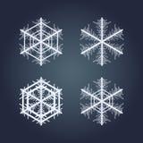 Colección de copos de nieve Fotos de archivo