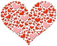 Colección de corazones Foto de archivo libre de regalías