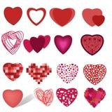 Colección de corazones Imágenes de archivo libres de regalías