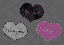Colección de corazones para Valentine Day Fotografía de archivo
