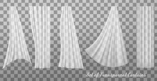 Colección de cortinas transparentes libre illustration