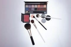 Colección de cosméticos para el artista de maquillaje Foto de archivo libre de regalías