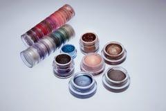 Colección de cosméticos para el artista de maquillaje Imágenes de archivo libres de regalías