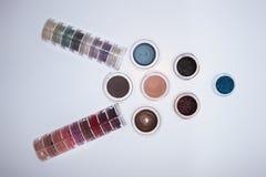 Colección de cosméticos para el artista de maquillaje Fotografía de archivo libre de regalías