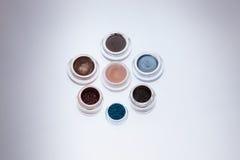 Colección de cosméticos para el artista de maquillaje Fotos de archivo libres de regalías