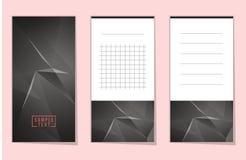 Colección de cuaderno polivinílico bajo del espacio poligonal abstracto Imagenes de archivo