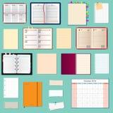 Colección de cuadernos del vector Foto de archivo libre de regalías
