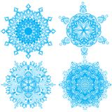 Colección de cuatro copos de nieve de la elegancia Imagen de archivo