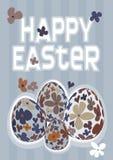 Colección de cuatro huevos de Pascua Foto de archivo libre de regalías
