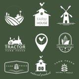 Colección de cultivar ejemplos del icono stock de ilustración