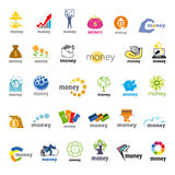 Colección de dinero de los logotipos del vector, finanzas Fotos de archivo libres de regalías