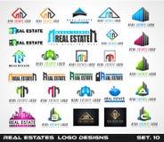 Colección de diseño creativo del logotipo de Real Estate para la marca Fotografía de archivo libre de regalías