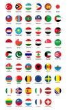 Colección de diseño del botón de la bandera libre illustration