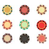 Colección de diseño elegante colorido del emblema del vector de la perla Sistema de sellos del promo del concepto, de las etiquet Imagen de archivo libre de regalías
