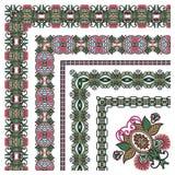 Colección de diseño floral del marco del vintage Fotografía de archivo