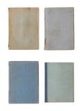 Colección de diversas cubiertas de libro viejo aisladas en blanco fotografía de archivo