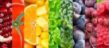 Colección de diversas frutas, bayas y verduras Foto de archivo libre de regalías