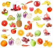 Colección de diversas frutas y verduras Imagen de archivo libre de regalías