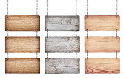 Colección de diversas muestras de madera con la cadena Foto de archivo libre de regalías