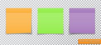 colección de diversas notas pegajosas coloreadas con la sombra Imagenes de archivo