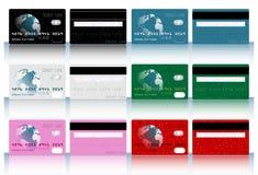 Colección de diversas tarjetas de crédito coloreadas para b Imágenes de archivo libres de regalías