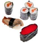 Colección de diverso sushi Fotos de archivo libres de regalías