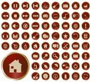 Colección de diversos botones Imagenes de archivo