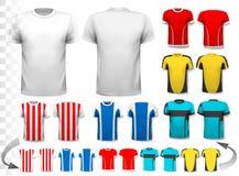 Colección de diversos jerséis de fútbol stock de ilustración