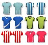 Colección de diversos jerséis de fútbol libre illustration