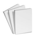 Colección de diversos libros blancos en blanco en el fondo blanco Fotografía de archivo libre de regalías