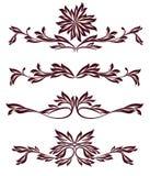 Colección de divisores de la decoración de la vendimia Foto de archivo