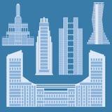 Colección de edificios para el diseño de la ciudad Foto de archivo
