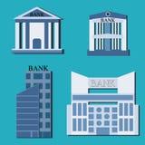 Colección de edificios para el diseño del banco Imagen de archivo
