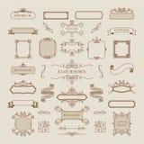 Colección de ejemplo del marco del ornamento del vintage stock de ilustración