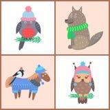 Colección de ejemplo del vector de los animales de los carteles libre illustration