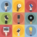 Colección de ejemplo de la tecnología y de los dispositivos stock de ilustración