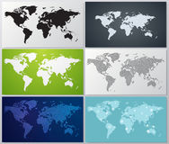 Colección de ejemplos del mapa del mundo Fotografía de archivo