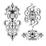 Colección de elementos adornados del diseño ilustración del vector