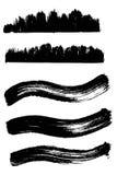 Colección de elementos de la tinta de la onda Imagen de archivo libre de regalías