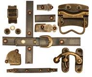 Colección de elementos decorativos del metal Fotografía de archivo libre de regalías