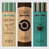 Colección de elementos del diseño del café Foto de archivo libre de regalías