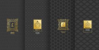 Colección de elementos del diseño, etiquetas, icono, marcos, para empaquetar libre illustration