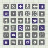 Colección de elementos del diseño web de los iconos Fotografía de archivo libre de regalías