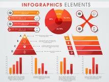 Colección de elementos del infographics del negocio Fotos de archivo