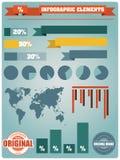 Colección de elementos del infographics, vector Fotografía de archivo