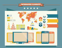 Colección de elementos del infographics, vector Foto de archivo