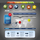 Colección de elementos del Web site ilustración del vector