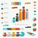 Colección de elementos infographic coloridos ilustración del vector