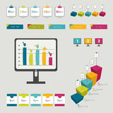 Colección de elementos infographic planos coloridos. ilustración del vector