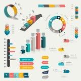 Colección de elementos infographic planos coloridos ilustración del vector